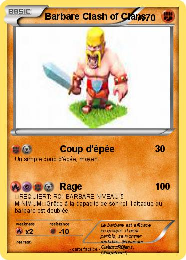 Pokemon Barbare Clash Of Clans
