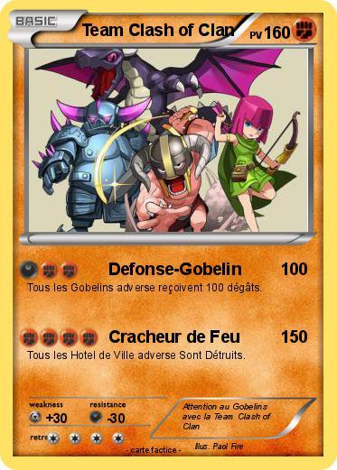 Pok U00e9mon Team Clash Of Clan - Defonse-gobelin