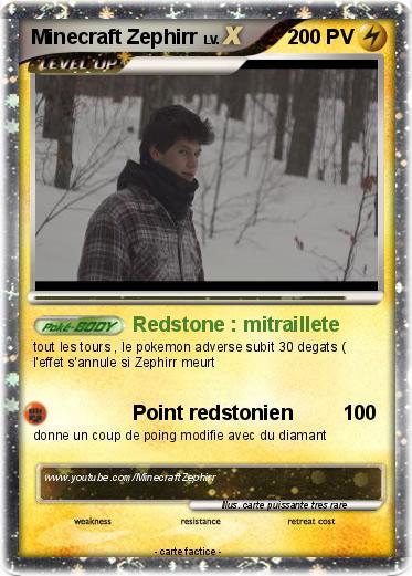 Pok mon minecraft zephirr 2 2 redstone mitraillete ma carte pok mon - Pokemon rare diamant ...