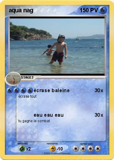 Pok mon aqua nag crase baleine ma carte pok mon - Pokemon baleine ...