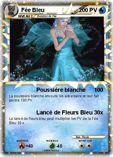 Pok mon fee bleu poussi re blanche ma carte pok mon - Carte pokemon fee ...