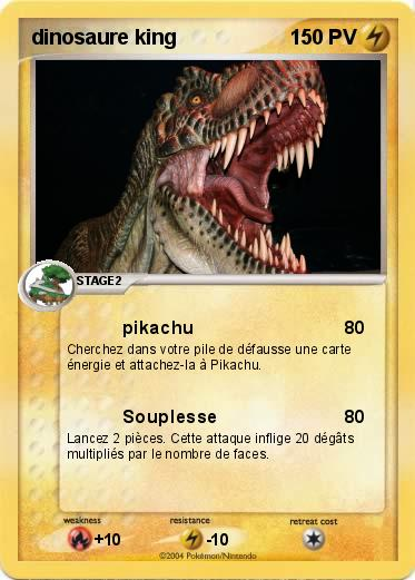 Pok mon dinosaure king 2 2 pikachu ma carte pok mon - Carte dinosaure king ...