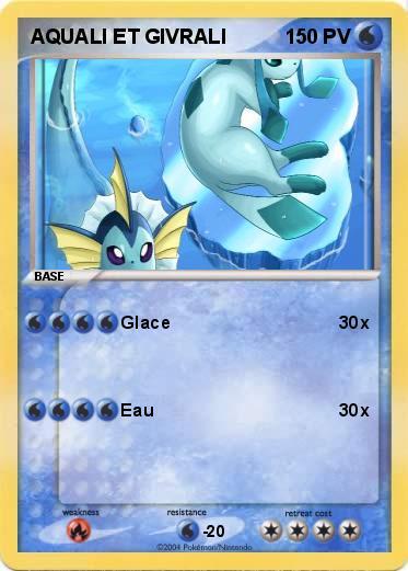 Pok mon aquali et givrali glace ma carte pok mon - Carte pokemon aquali ...