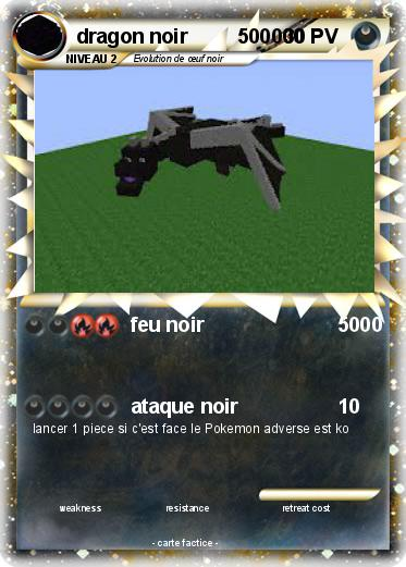 Pok mon dragon noir 500000 500000 feu noir 5000 ma - Pierre feu pokemon noir ...