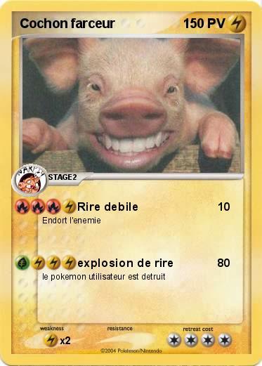 Pok mon cochon farceur rire debile ma carte pok mon - Cochon pokemon ...