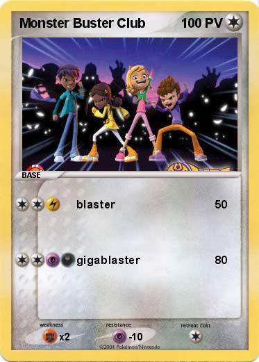 Pok mon monster buster club blaster ma carte pok mon - Coloriage monster buster club ...