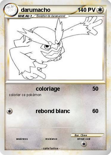 Pok mon darumacho 27 27 coloriage ma carte pok mon - Imprimer une carte pokemon ...