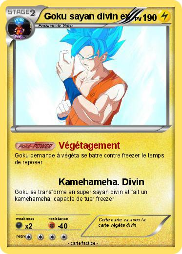 Pokemon Goku Sayan Divin Ex