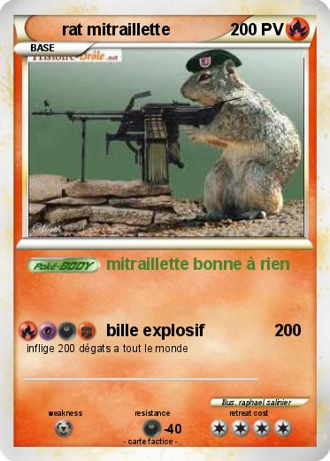 Pokemon rat mitraillette