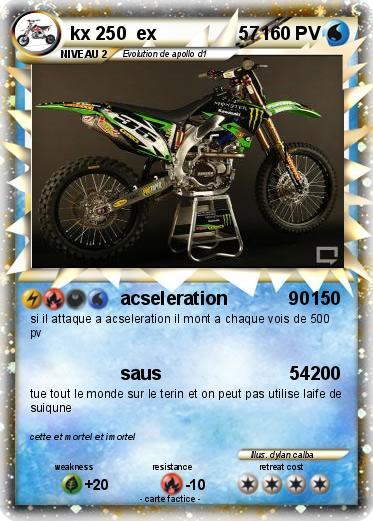 Pok mon kx 250 ex 57 57 acseleration 90 ma carte pok mon - Tout les carte pokemon ex du monde ...
