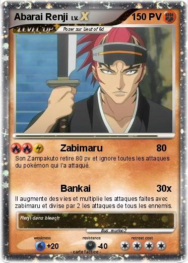 Renji Abarai (de Bleach) dans Carte Pokemon en autres personnages oSB8KQnU6t00