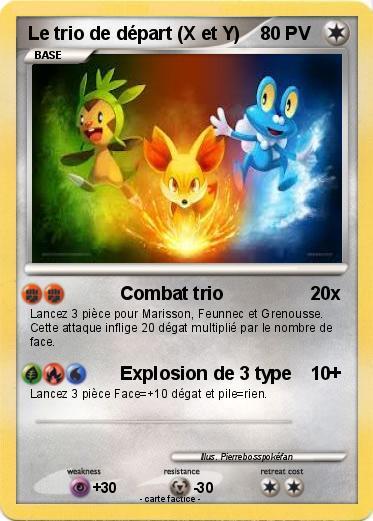 Pok mon le trio de depart x et y combat trio ma carte - Pokemon x et y legendaire ...