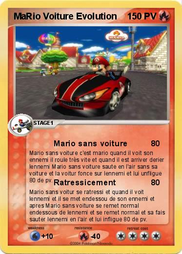 pok mon mario voiture evolution mario sans voiture ma. Black Bedroom Furniture Sets. Home Design Ideas