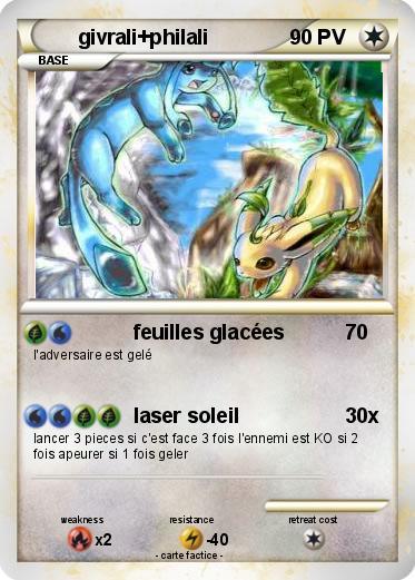 Pok mon givrali philali feuilles glac es ma carte pok mon - Givrali pokemon ...