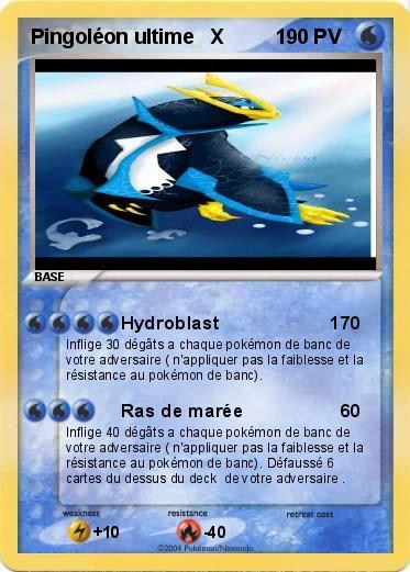Pok mon pingoleon ultime x 1 1 hydroblast 1 ma carte pok mon - Pokemon pingoleon ...