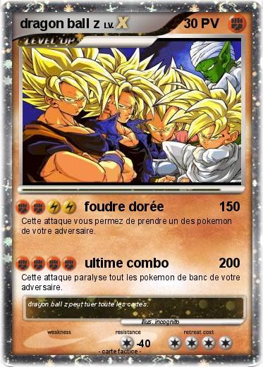 Pok mon dragon ball z 81 81 foudre dor e ma carte pok mon - Carte pokemon dragon ...