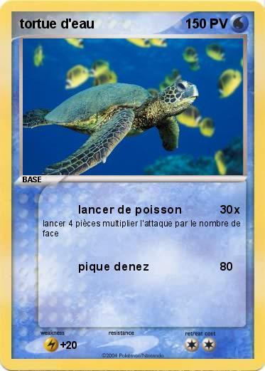pok233mon tortue d eau 1 1 lancer de poisson ma carte