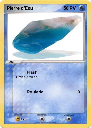 Pok mon pierre d eau flash ma carte pok mon - Pierre eau pokemon noir ...