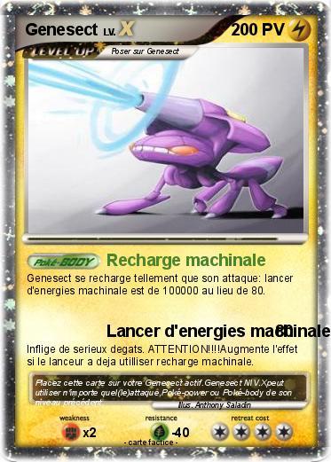 Carte pokemon genesect - Mypokecard com ...