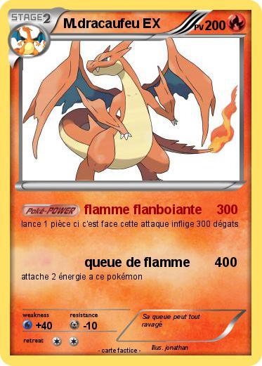 Pok mon m dracaufeu ex 2 2 flamme flanboiante 300 ma - Pokemon dracaufeu ex ...