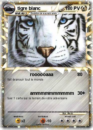 pok mon tigre blanc 55 55 roooooaaa ma carte pok mon. Black Bedroom Furniture Sets. Home Design Ideas