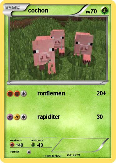 Pok mon cochon 303 303 ronflemen ma carte pok mon - Cochon pokemon ...