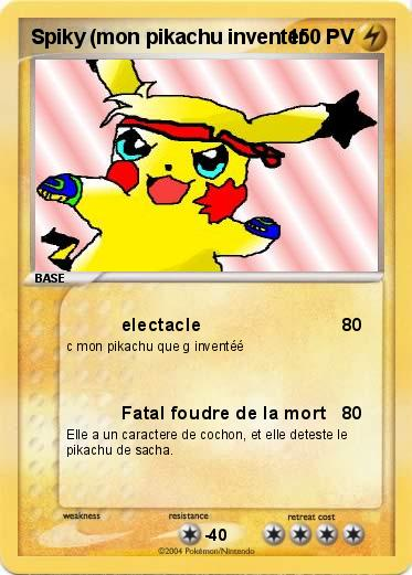Pok mon spiky mon pikachu inventer electacle ma carte pok mon - Inventer carte pokemon ...