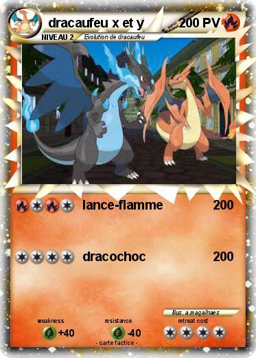 Pok mon dracaufeu x et y lance flamme ma carte pok mon - Pokemon dracaufeu x ...