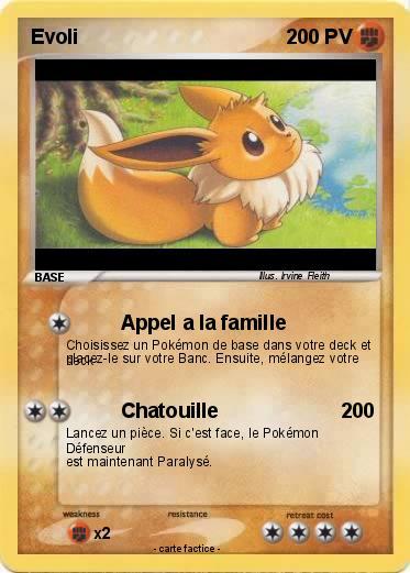 Pok mon evoli 418 418 appel a la famille ma carte pok mon - Famille evoli pokemon ...