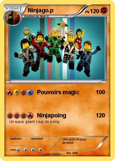 Pok mon ninjago p pouvoirs magic ma carte pok mon - Carte ninjago ...