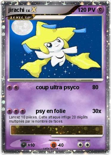 Pok mon jirachi 499 499 coup ultra psyco ma carte pok mon - Carte pokemon jirachi ...