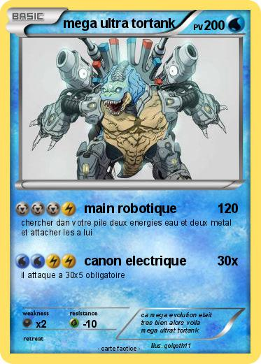 Pok mon mega ultra tortank main robotique ma carte pok mon - Pokemon tortank mega evolution ...