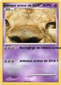 animaux acteur
