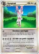 Pok mon nymphali type fee pouvoir lunaire ma carte pok mon - Carte pokemon fee ...
