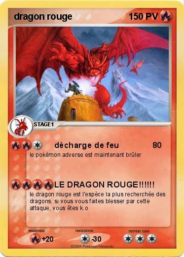 pok mon dragon rouge 33 33 d charge de feu ma carte. Black Bedroom Furniture Sets. Home Design Ideas