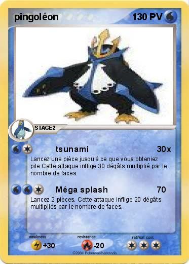 Pok mon pingoleon 235 235 tsunami ma carte pok mon - Pokemon pingoleon ...