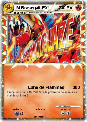 Pok mon m brasegali ex 2 2 2 lune de flammes 300 ma carte pok mon - Coloriage pokemon brasegali ...