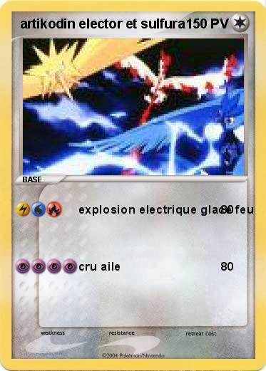 Pok mon artikodin elector et sulfura explosion electrique glace feu ma carte pok mon - Elector pokemon x ...