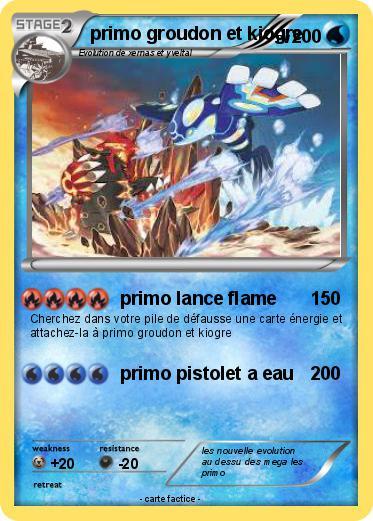 Pokemon Primo Groudon Et Kiogre