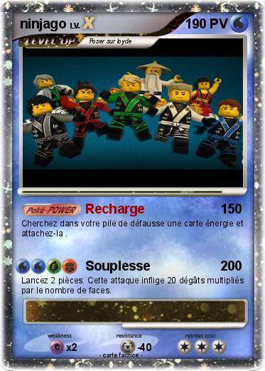 Pok mon ninjago 200 200 recharge ma carte pok mon - Carte ninjago ...