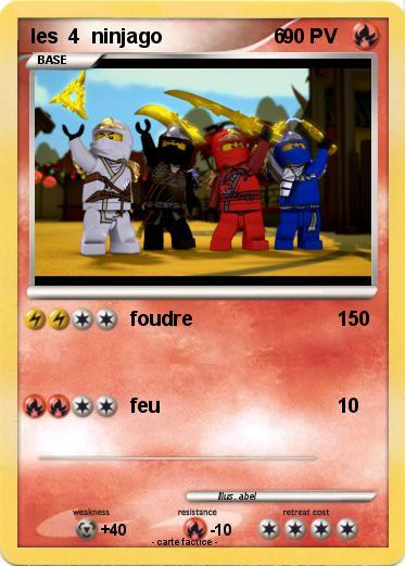 Pok mon les 4 ninjago 6 6 foudre ma carte pok mon - Carte ninjago ...