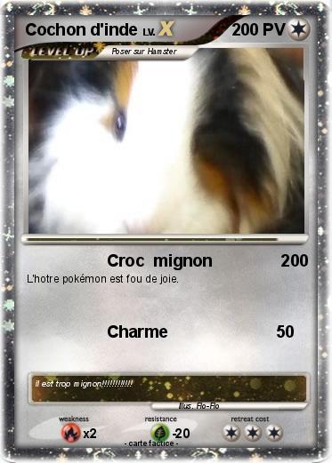 Pok mon cochon d inde 19 19 croc mignon 200 ma carte - Cochon pokemon ...