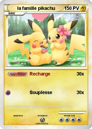 Pok mon la famille pikachu recharge ma carte pok mon - Pokemon famille pikachu ...