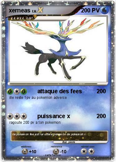 Pok mon xerneas 428 428 attaque des fees ma carte pok mon - Carte pokemon fee ...