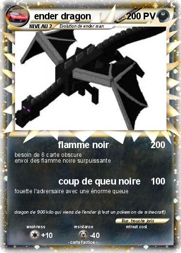 Pok mon ender dragon 14 14 flamme noir ma carte pok mon - Carte pokemon dragon ...