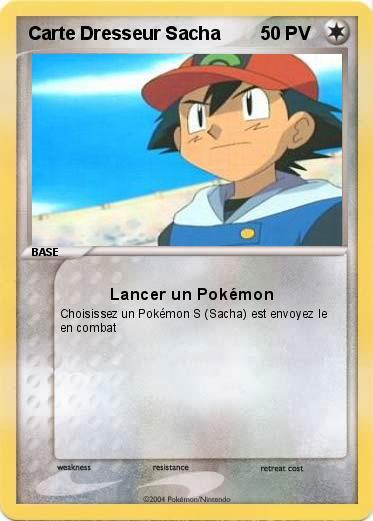 Pok mon carte dresseur sacha lancer un pok mon ma - Carte pokemon imprimer ...