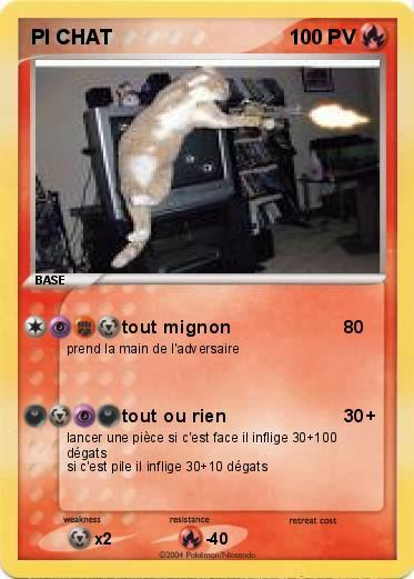 Pok mon pi chat tout mignon ma carte pok mon - Chat tout mignon ...