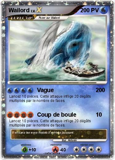 Carte pok mon wailord x - Carte pokemon wailord ...