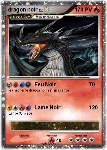 Pok mon dragon noir 237 237 feu noir ma carte pok mon - Pierre feu pokemon noir ...