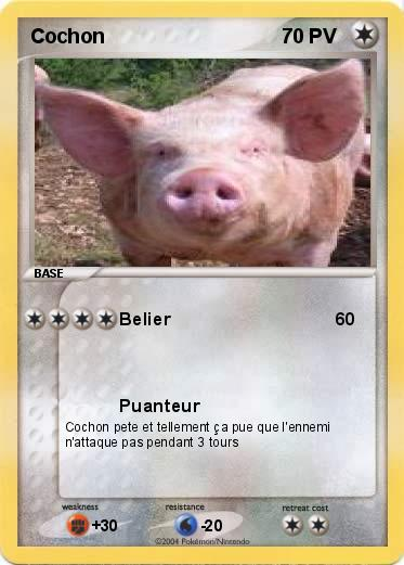 Pok mon cochon 37 37 belier ma carte pok mon - Cochon pokemon ...